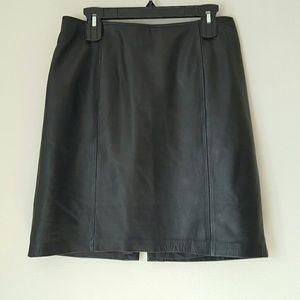 Apt 9 lambskin leather black pencil skirt